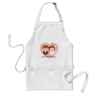 Cute Newlyweds Happily Married Couple Adult Apron