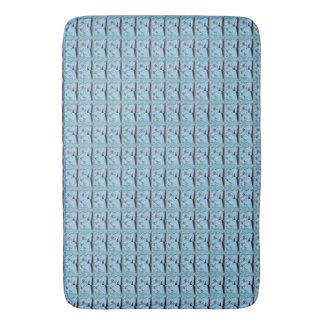 Cute Nice Lovely Blue Summer Mermaid aqua design Bath Mat