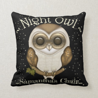 Cute Night Owl - Baby Barn Owl Cushion