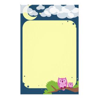 Cute Night Owls Stationery