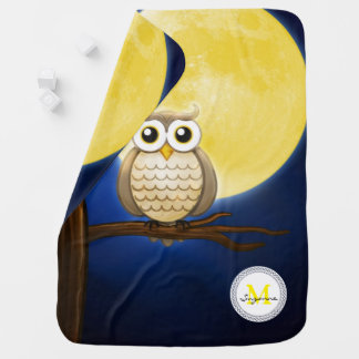 Cute Night Wise Owl   Decorative Baby Blanket