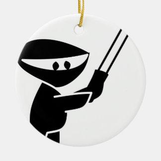 cute ninja graphic christmas ornament
