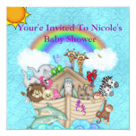 cute Noahs Ark Baby Shower Invitation
