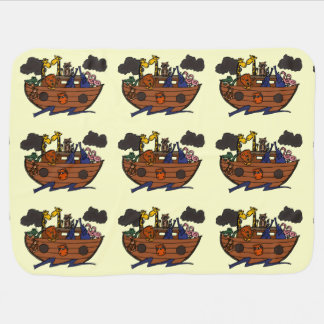 Cute Noah's Ark Cartoon Baby Blanket