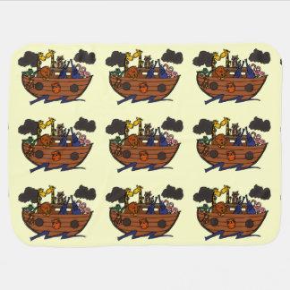 Cute Noah's Ark Cartoon Pramblanket