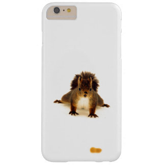 Cute nosy red squirrel in snow barely there iPhone 6 plus case