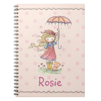 Cute Notebook for Little Girl Add Your Name