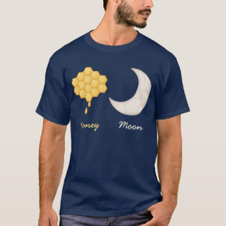 Cute Novelty Honey and Moon Honeymoon T-Shirt
