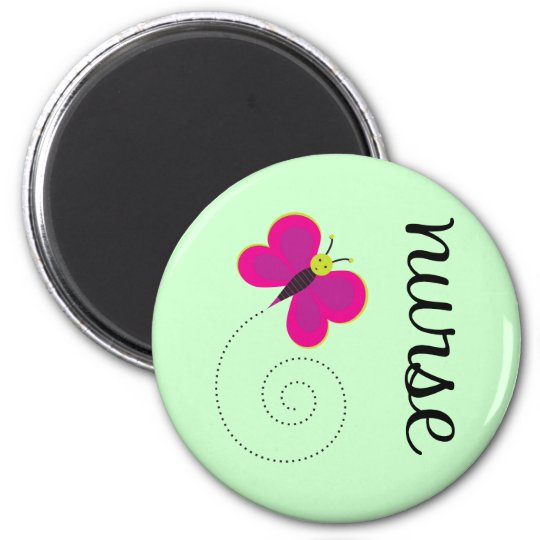 Cute Nurse 6 Cm Round Magnet