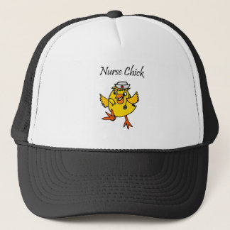 Cute Nurse Chick Cartoon Trucker Hat