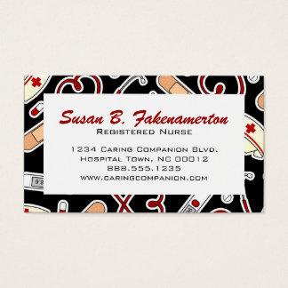 Cute Nurse or Caregiver Business Card