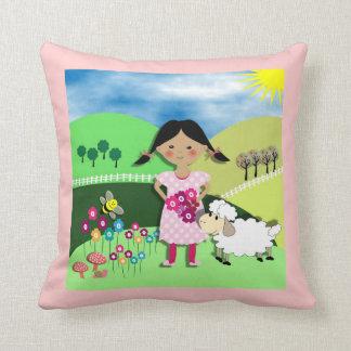 Cute Nursery Rhyme Mary Had  Little lamb Cushion