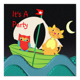 Cute Nursery Rhyme Themed Party Invitation