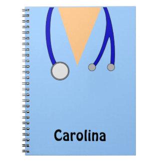 Cute Nurses Scrubs Whimsical Personalized Notebooks