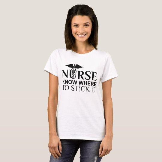 Cute Nursing Quote : Nurse Know Where To