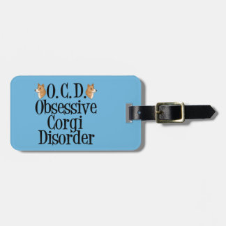 Cute Obsessive Corgi Disorder Luggage Tag