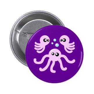 Cute Octopus 6 Cm Round Badge