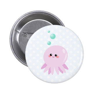 Cute octopus cartoon 6 cm round badge