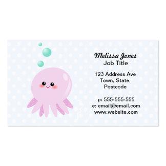 Cute octopus cartoon business card