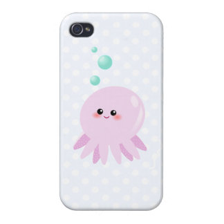Cute octopus cartoon case for the iPhone 4