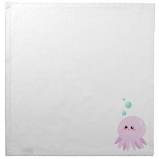 Cute octopus cartoon cloth napkin