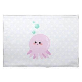 Cute octopus cartoon place mats