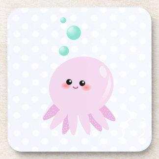 Cute octopus cartoon coasters