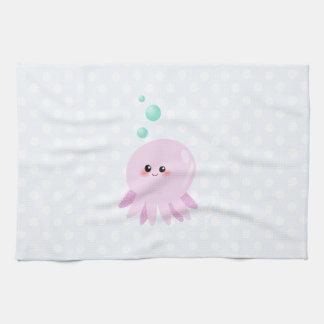 Cute octopus cartoon tea towel