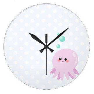 Cute octopus cartoon wall clocks