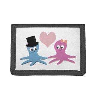 Cute Octopus Couple Tri-fold Wallet