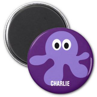 Cute Octopus custom monogram magnet