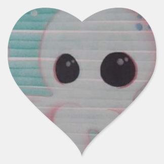 Cute Octopus Heart Sticker