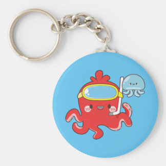 Cute Octopus Key Ring