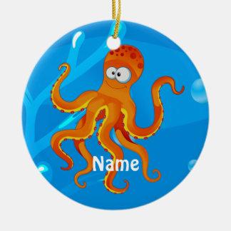 Cute Octopus Ocean Beach Ornament