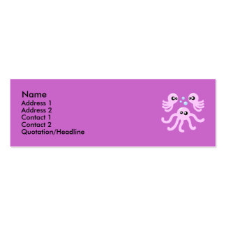 Cute Octopus Profile Cards Pack Of Skinny Business Cards