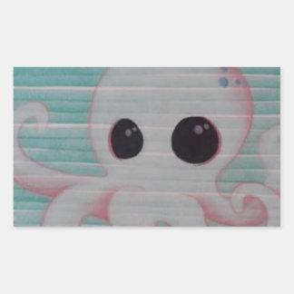 Cute Octopus Rectangular Sticker