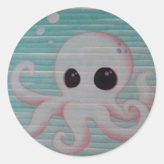 Cute Octopus Round Sticker