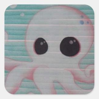 Cute Octopus Square Sticker