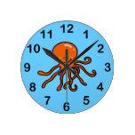 cute octopus wallclocks