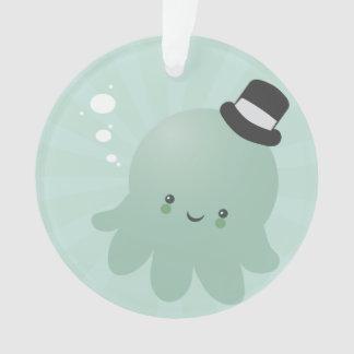 Cute Octopus wearing a black Top Hat