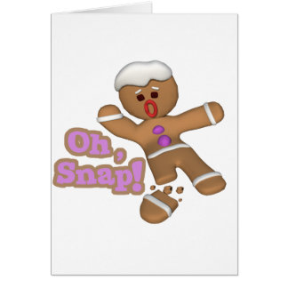 cute oh snap gingerbread man cookie cards
