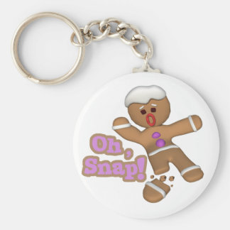 cute oh snap gingerbread man cookie keychains