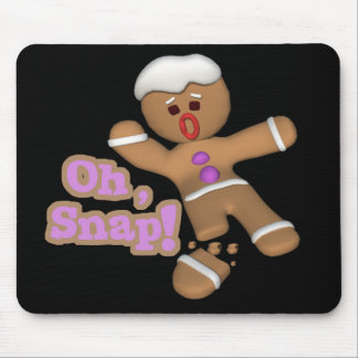 cute oh snap gingerbread man cookie mouse mats