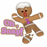 cute oh, snap gingerbread man cookie photo sculpture decoration