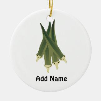 Cute Okra Christmas Ornament