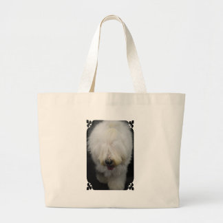Cute Old English Sheepdog Canvas Bag
