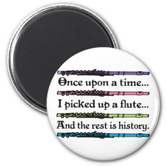 Cute Once Upon A Time Flute 6 Cm Round Magnet