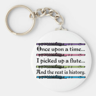 Cute Once Upon A Time Flute Key Ring