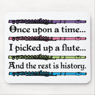 Cute Once Upon A Time Flute Mouse Mat