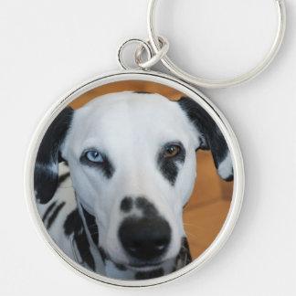 Cute One Blue Eye Dalmatian Dog Keychain